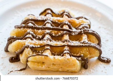 Sweet Belgian Waffles for Dessert or Breakfast