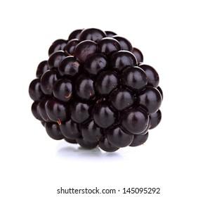 Sweet blackberry isolated on white
