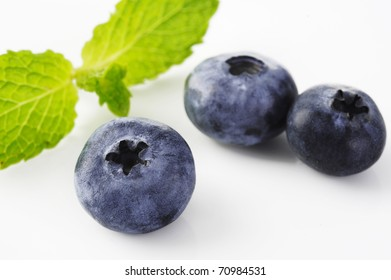Sweet Blueberry berry isolated on white background