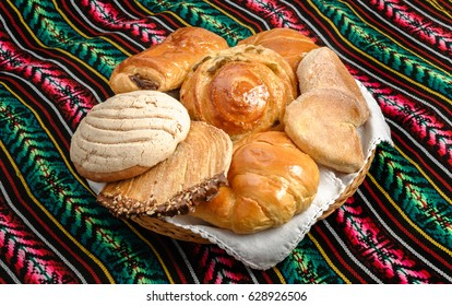 Sweet bread assorted traditional Mexican bakery