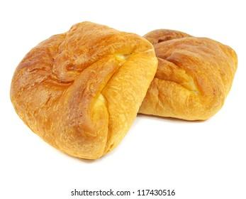 sweet bread bun on a white background