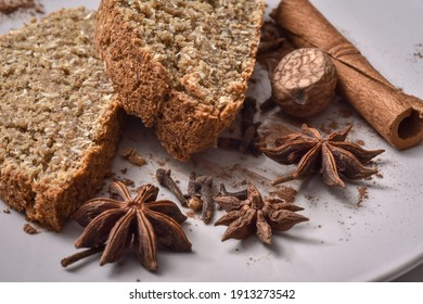 Sweet bread with Indian spices - anise, cinnamon, nutmeg and cloves