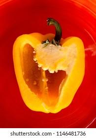 Sweet Bulgarian pepper mix: red, yellow, orange