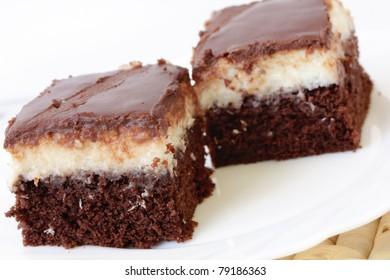 sweet cake chocolate and coco dessert food