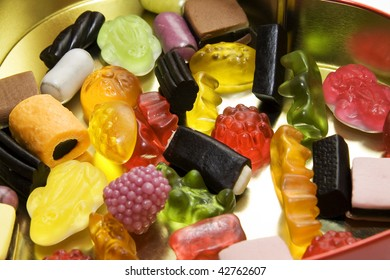 sweet candy gum background full of colours