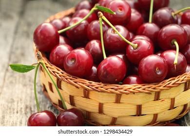 Sweet cherry basket