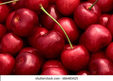 Sweet Cherry basket  background