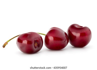 Sweet cherry berries isolated on white background cutout