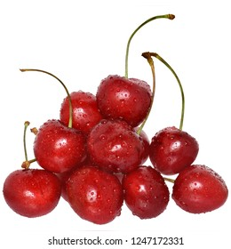 Sweet cherry isolated on a white background.