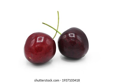 Sweet cherry isolated on white background.