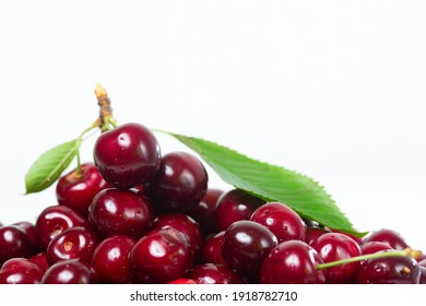 sweet cherry on white isolated backdrop