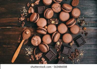 sweet chocolate macaron French