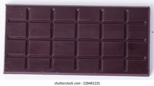 Sweet chocolate on a white background