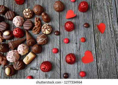 sweet chocolate praline