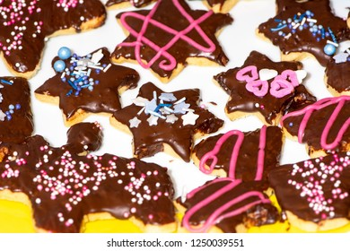 Sweet Christmas Cookies with heart and star shape