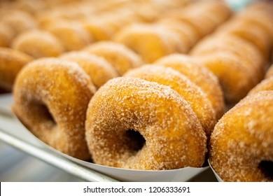 Sweet cider donuts freshly baked