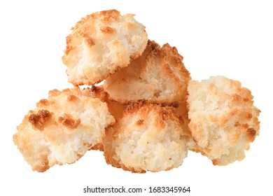 Sweet coconut biscuit isolated on a white background