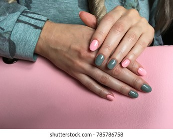 Sweet colors of manicured nails
