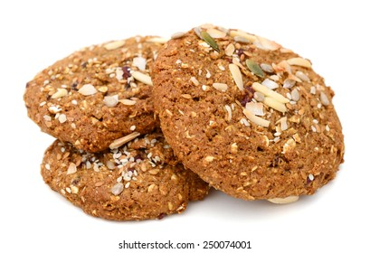 sweet cookies on white background