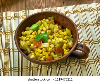 Sweet corn chaat  and Indian species.  Indian Vegetarian Recipes