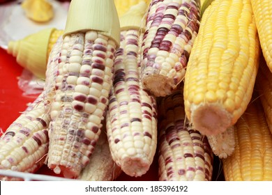 Sweet corn in the market