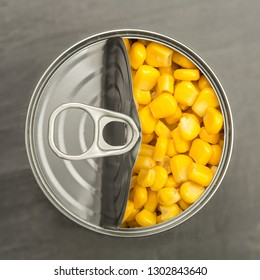 Sweet corn in a tin can