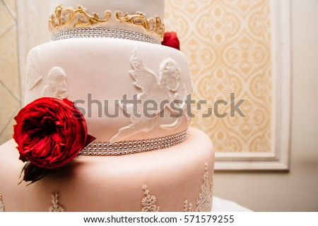 Sweet Delicious Cake St Valentines Day Wedding Stock Photo Edit Now
