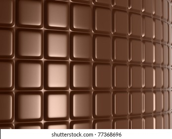 Sweet and delicious food: large chocolate bar