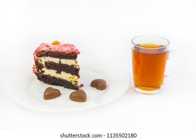 Sweet dessert and black tea