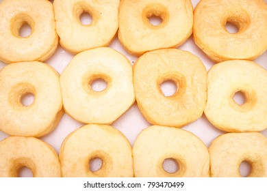 Sweet donuts background