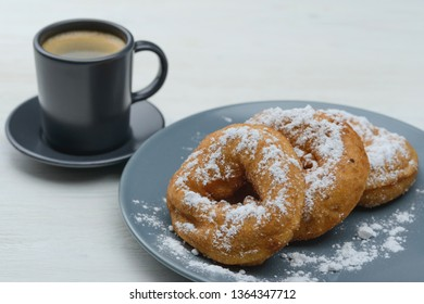 sweet donuts and morning coffee