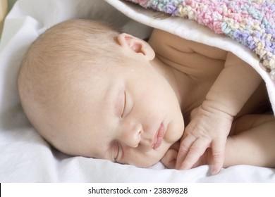 Sweet dreams of newborn baby