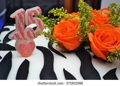 Sweet fifteen cake zoom