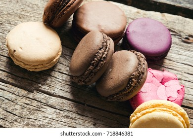 Sweet french macaroons/toned photo