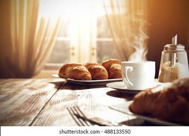 sweet fresh coffee and window