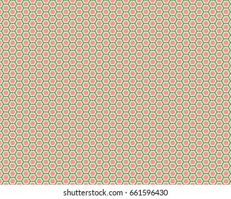 A sweet, fresh little pattern that us reminiscent of watermelon. Pink, green and white colors.