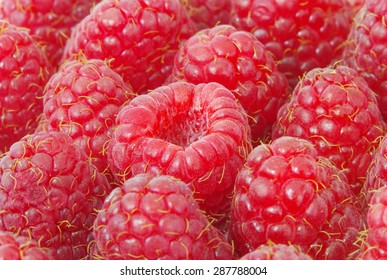 sweet fresh raspberries close up
