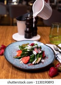 Sweet Fresh Salad with Strawberry