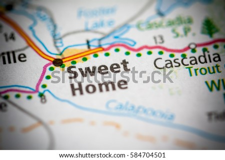 Sweet Home Oregon Usa Stock Photo Edit Now 584704501 Shutterstock