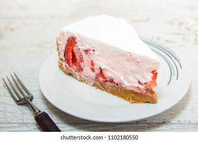 Sweet homemade strawberry cake
