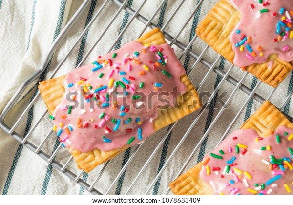 Sweet Homemade Strawberry Toaster Pastries with Sprinkles
