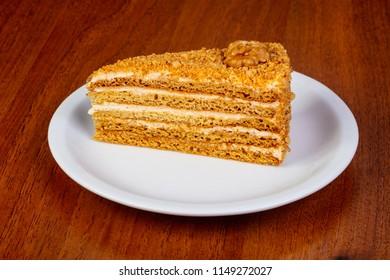 Sweet honey cake and walnut