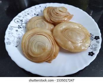 Sweet Indian snack named 'Chirote'.