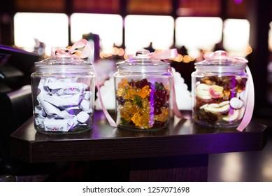 sweet jar of cookies and candies