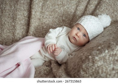 sweet little baby in the hat
