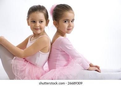 sweet little ballerinas portrait