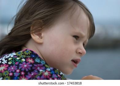 sweet little girl. portrait