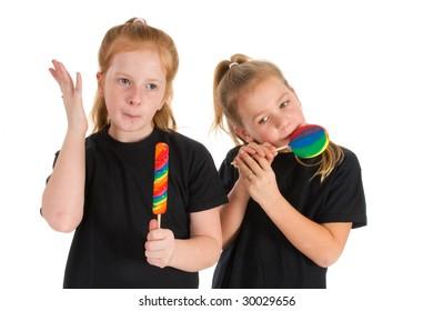 Sweet lollipops for the little girls