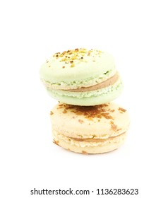 Sweet macaroon confection isolated
