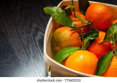 sweet mandarin of basket